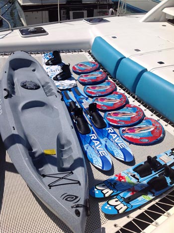Just some of the water toys on Grand Cru